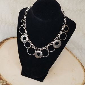 SILPADA Sterling Silver Hammered Circle Necklace